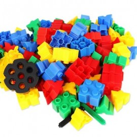 image of KIDS 60PCS 3D BRICKS BUILDING BLOCKS CREATIVE EDUCATIONAL TOY (COLORMIX) -